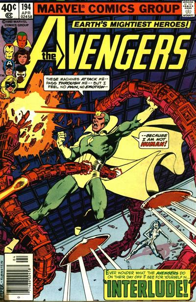 Cover for The Avengers (Marvel, 1963 series) #194 [Newsstand Edition]
