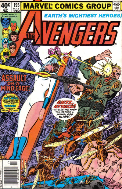Cover for The Avengers (Marvel, 1963 series) #195 [Newsstand Edition]