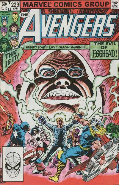 Cover for The Avengers (1963 series) #229 [Newsstand Edition]