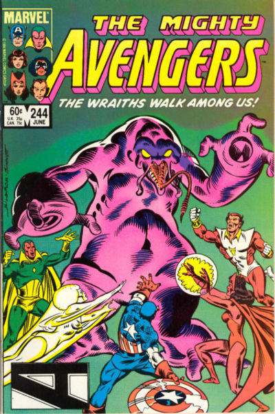 Cover for The Avengers (Marvel, 1963 series) #244 [Newsstand Edition]