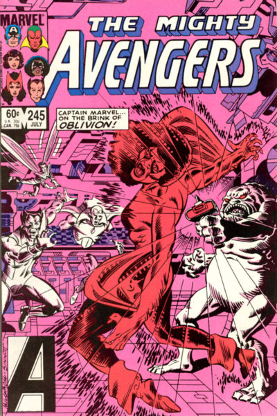 Cover for The Avengers (Marvel, 1963 series) #245 [Newsstand Edition]