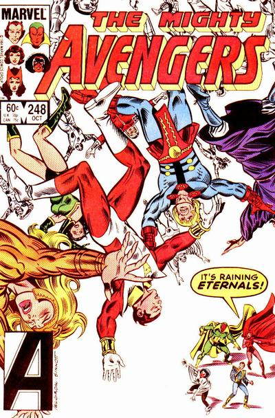 Cover for The Avengers (1963 series) #248 [Newsstand Edition]