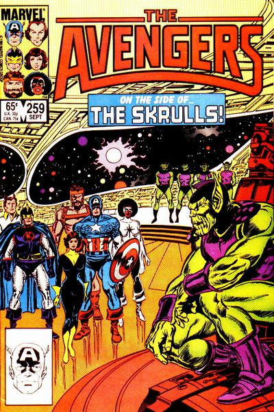Cover for The Avengers (1963 series) #259 [Newsstand Edition]