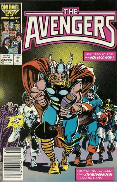 Cover for The Avengers (1963 series) #276 [Direct Edition]