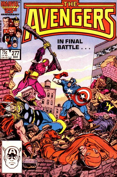Cover for The Avengers (1963 series) #277
