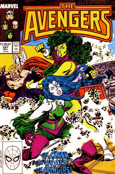 Cover for The Avengers (Marvel, 1963 series) #297 [Direct Edition]