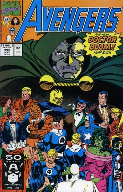 Cover for The Avengers (Marvel, 1963 series) #332 [Direct Edition]