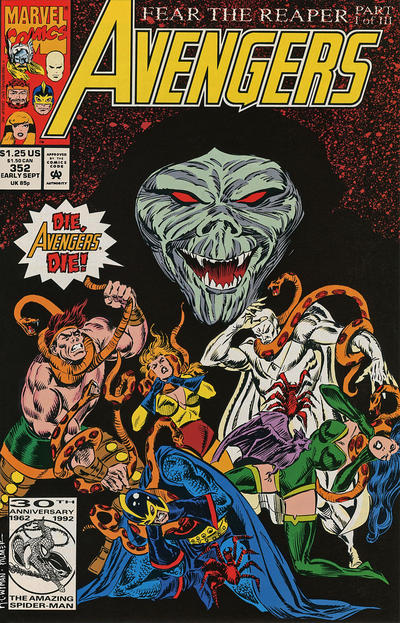 Cover for The Avengers (1963 series) #352