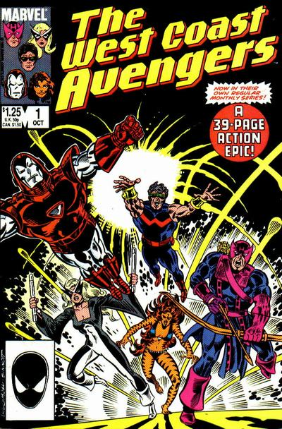 Cover for West Coast Avengers (Marvel, 1985 series) #1 [Canadian Newsstand Edition]