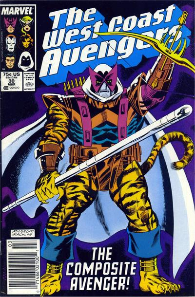 Cover for West Coast Avengers (Marvel, 1985 series) #30 [Newsstand Edition]