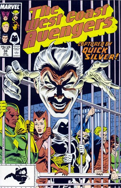 Cover for West Coast Avengers (1985 series) #34 [Direct Edition]