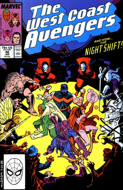 Cover for West Coast Avengers (Marvel, 1985 series) #40 [Newsstand Edition]