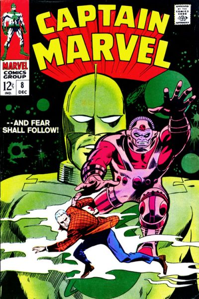 Cover for Captain Marvel (Marvel, 1968 series) #8
