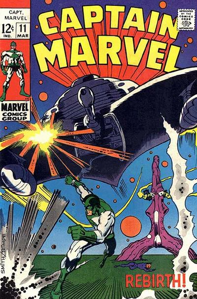 Cover for Captain Marvel (Marvel, 1968 series) #11