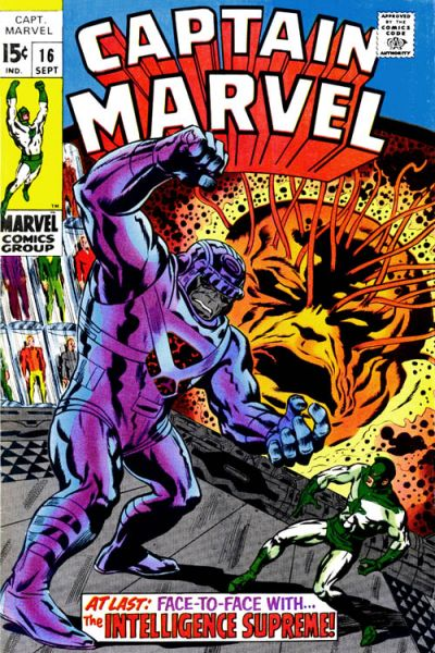 Cover for Captain Marvel (Marvel, 1968 series) #16