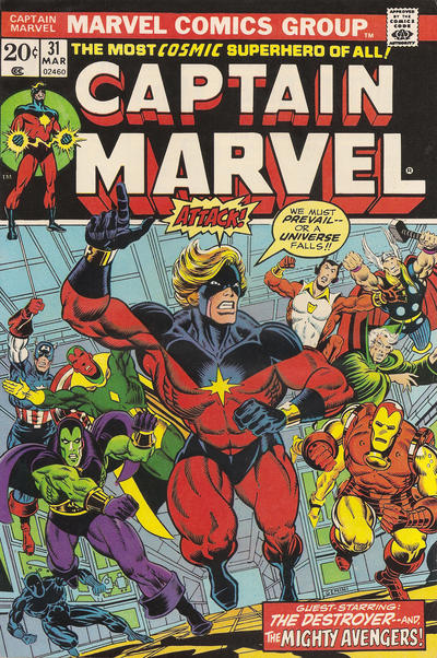 Cover for Captain Marvel (Marvel, 1968 series) #31 [Regular Edition]