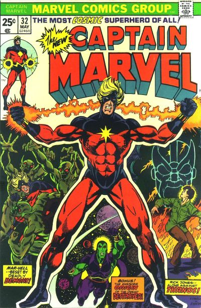 Cover for Captain Marvel (Marvel, 1968 series) #32