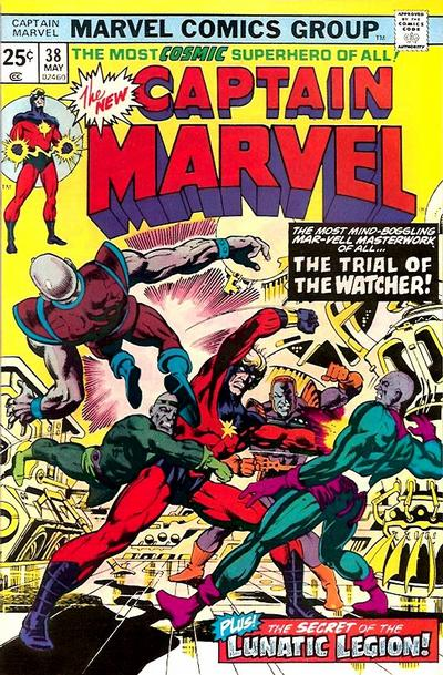 Cover for Captain Marvel (1968 series) #38