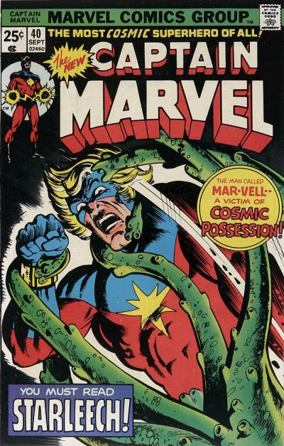 Cover for Captain Marvel (Marvel, 1968 series) #40 [Regular Edition]