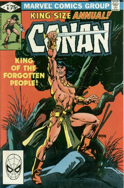 Cover for Conan Annual (Marvel, 1973 series) #6 [Direct Edition]