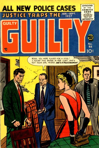 Cover for Justice Traps the Guilty (1947 series) #v10#4 (88)