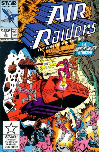 Cover for Air Raiders (Marvel, 1987 series) #2 [Direct Edition]