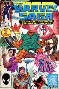 Cover Thumbnail for The Marvel Saga the Official History of the Marvel Universe (Marvel, 1985 series) #1 [Direct Edition]