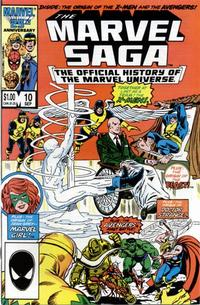 Cover Thumbnail for The Marvel Saga the Official History of the Marvel Universe (Marvel, 1985 series) #10 [Direct Edition]