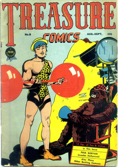 Cover for Treasure Comics (Prize, 1945 series) #8