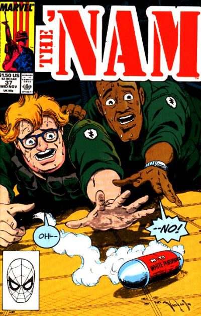 Cover for The 'Nam (Marvel, 1986 series) #37