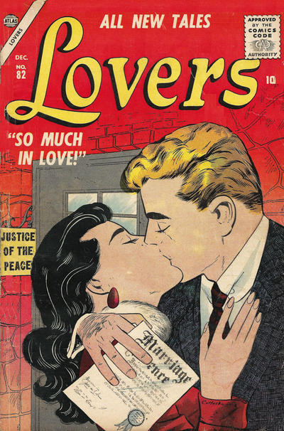Cover for Lovers (Marvel, 1949 series) #82