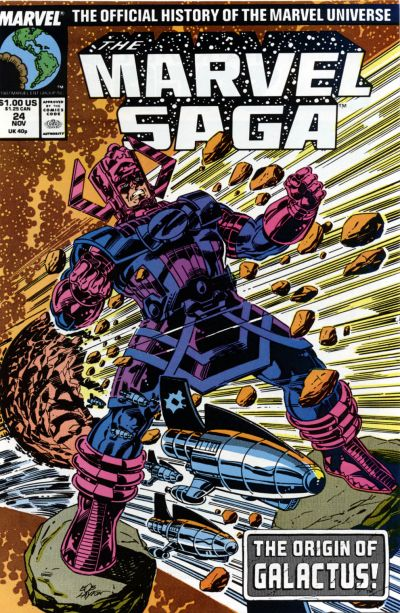 Cover for The Marvel Saga the Official History of the Marvel Universe (Marvel, 1985 series) #24