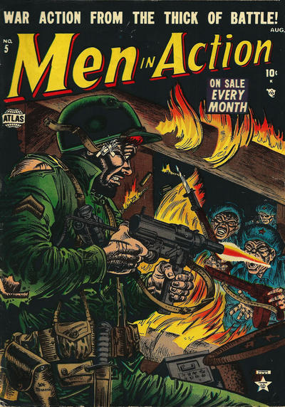 Cover for Men In Action (1952 series) #5