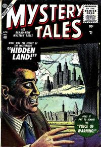 Cover Thumbnail for Mystery Tales (Marvel, 1952 series) #40