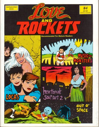 Cover for Love and Rockets (Fantagraphics, 1982 series) #4