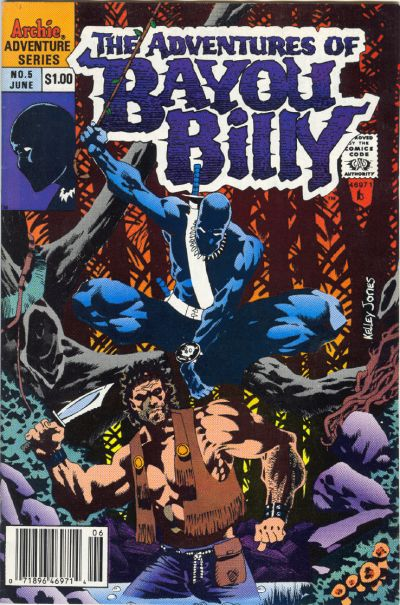 Cover for The Adventures of Bayou Billy (Archie, 1989 series) #5