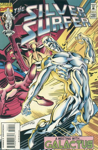 Cover for Silver Surfer (Marvel, 1987 series) #102