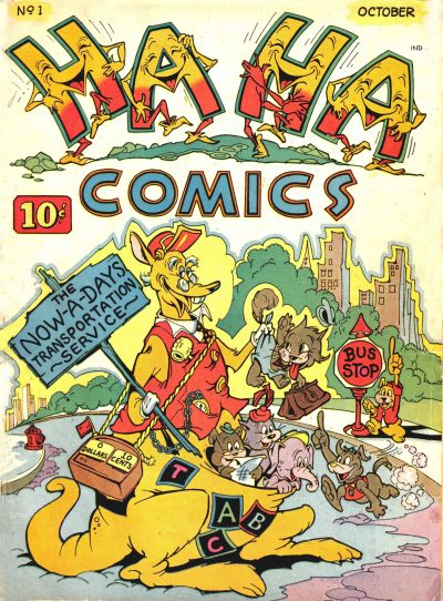 Cover for Ha Ha Comics (American Comics Group, 1943 series) #1