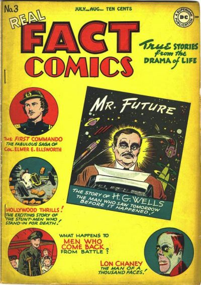 Cover for Real Fact Comics (DC, 1946 series) #3