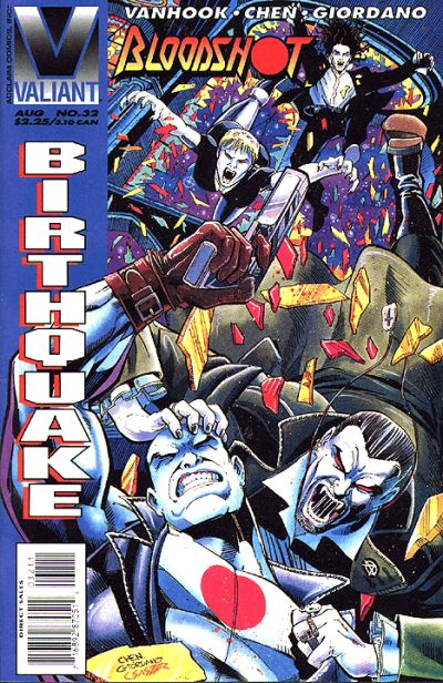 Cover for Bloodshot (Acclaim / Valiant, 1993 series) #32 [Newsstand Edition]