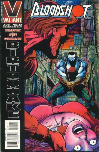 Cover for Bloodshot (Acclaim / Valiant, 1993 series) #33 [Direct Edition]