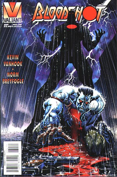 Cover for Bloodshot (Acclaim / Valiant, 1993 series) #34 [Direct Edition]