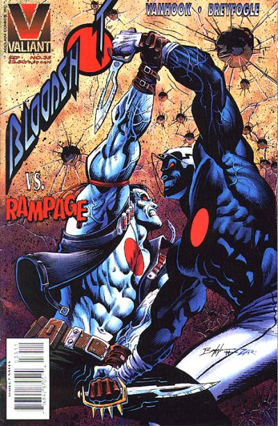 Cover for Bloodshot (Acclaim / Valiant, 1993 series) #35 [Direct Edition]