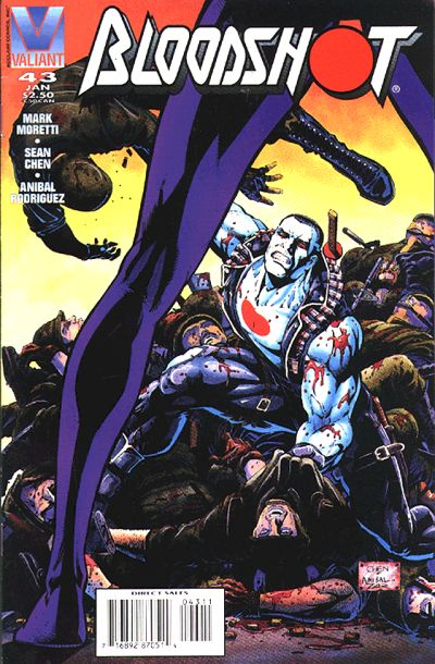 Cover for Bloodshot (Acclaim / Valiant, 1993 series) #43 [Direct Edition]