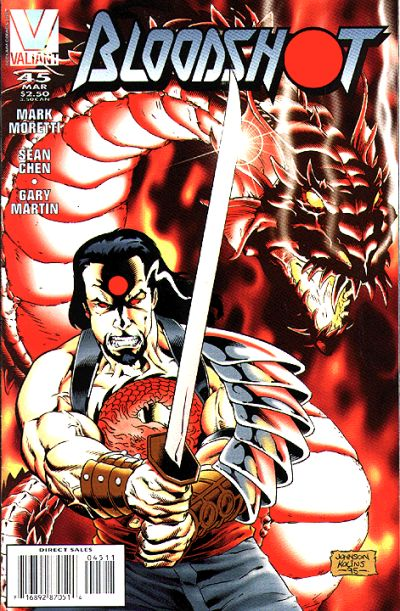 Cover for Bloodshot (Acclaim / Valiant, 1993 series) #45 [Direct Edition]