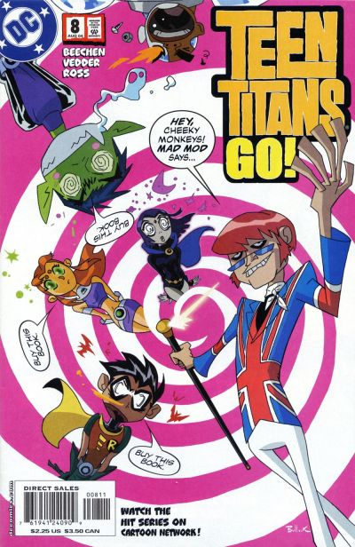 Cover for Teen Titans Go! (2004 series) #8