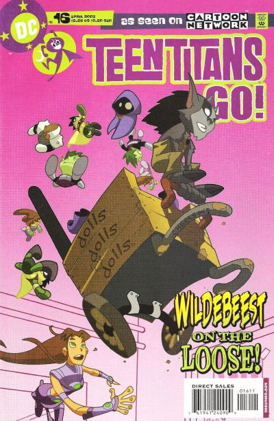 Cover for Teen Titans Go! (2004 series) #16