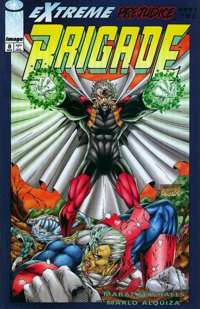 Cover for Brigade (Image, 1993 series) #8 [Direct Edition]