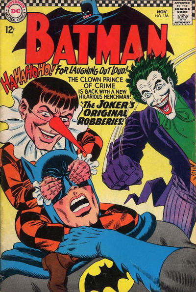Cover for Batman (DC, 1940 series) #186