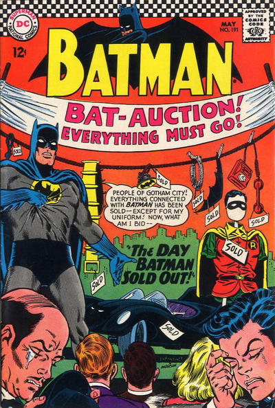 Cover for Batman (DC, 1940 series) #191